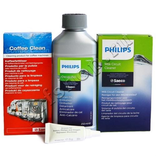 Комплект средств по уходу за кофемашиной Saeco/Philips (полный) - фото 9368