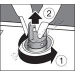 Пробка-клапан для очистки парогенератора
