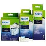 Комплект средств по уходу за кофемашиной Saeco/Philips (минимальный) с AquaClean